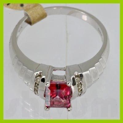 Genuine 1.34ctw Pink Rose Mystic Topaz Diamond Ring 14K