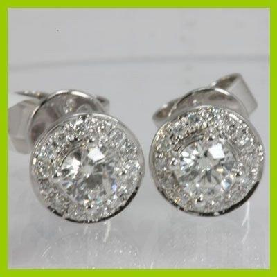 Genuine 0.56 ctw Diamond Earring 18kt Gold-White