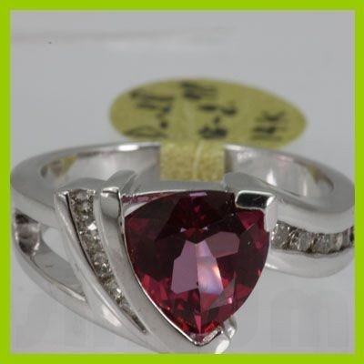 Genuine  3.26 ctw  Pink RoseTourmaline Ring  14KT
