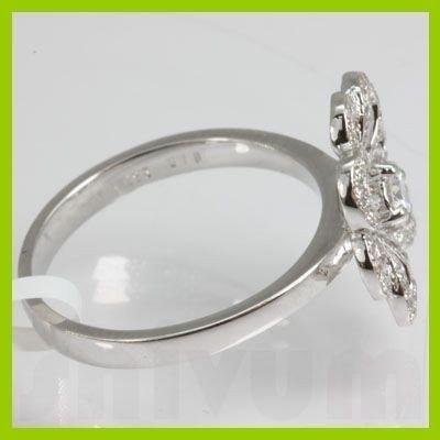 Genuine 0.44 ctw Diamond Ring 18kt Gold-White