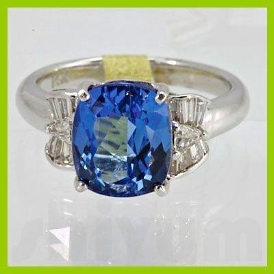 Genuine 4.50 ctw Tanzanite Diamond Ring 14k White Gold
