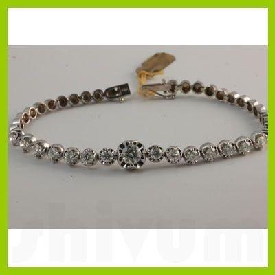 Genuine  3.70 ctw Diamond Bracelet 14KT White Gold