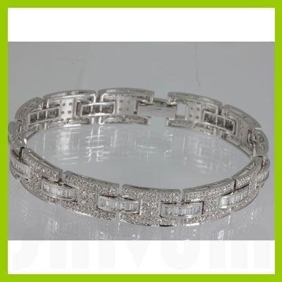 Genuine  3.8 ctw Diamond Bracelet 18KT White Gold