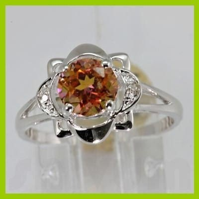 Genuine 1.71 ctw Twilight Mystic Topaz Diamond Ring 14K