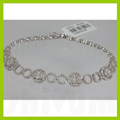 Genuine  1.96 ctw Diamond Bracelet 18KT White Gold