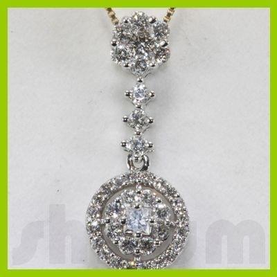 Genuine 0.75ctw Diamond Necklace 14k Gold 1.60g