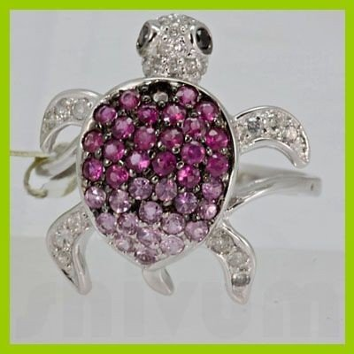 Genuine 1.09 ctw Pink Sapphire & Diamond Ring 14KT