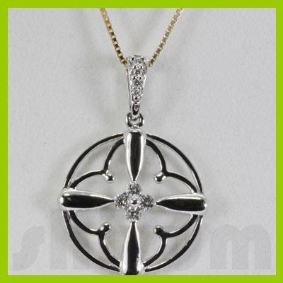 Genuine 0.15ctw Diamond Necklace 14k Gold 2.05g