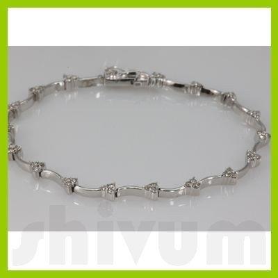 Genuine 1.01ctw Diamond Bracelet14KWhite Gold