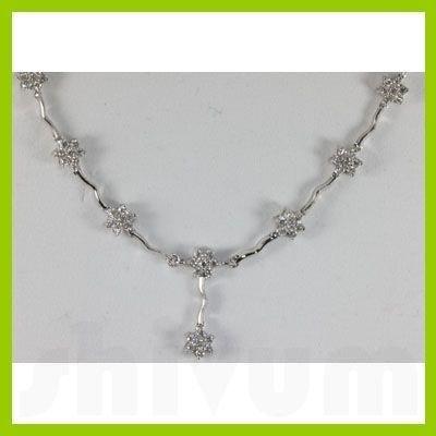 Genuine  2.13 ctw Diamond Necklace 18KT White Gold