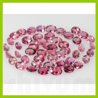Natural Pink Tourmaline Oval Cut 50 pcs/lot @50 USD/ct