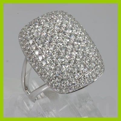 Genuine  2.02 ctw Diamond Ring 18KT White Gold