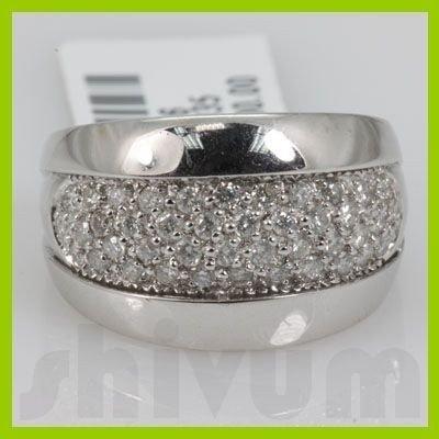 Genuine 0.76 ctw 14k Diamond White Gold Ring