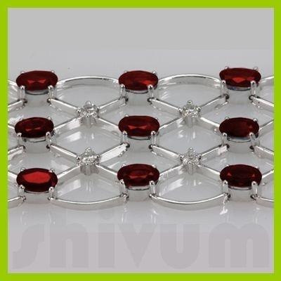 Genuine Vintage Design  24.85 ctw Ruby Bracelet  14K