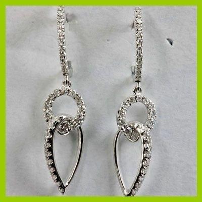 Genuine 0.53 ctw Diamond Earring 18k Gold-White