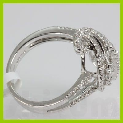 Genuine 0.63 ctw Diamond Ring 18kt Gold-White