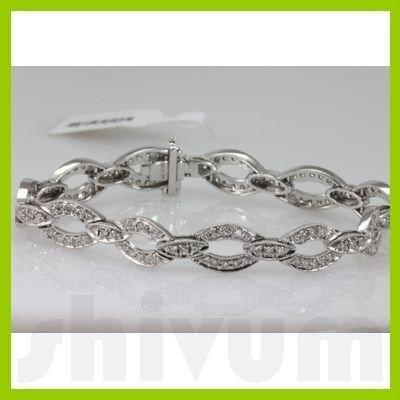 Genuine 2.62ctw Diamond Bracelet 14K White Gold