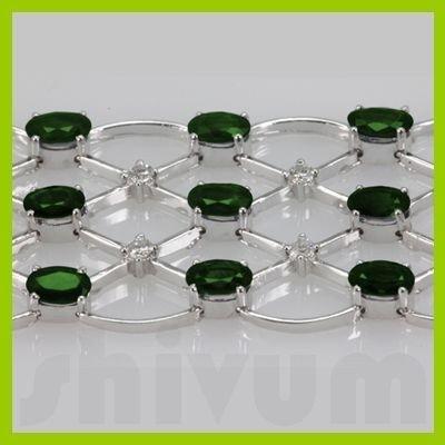 Genuine Vintage Design  21.73 ctw Emerald Bracelet  14K
