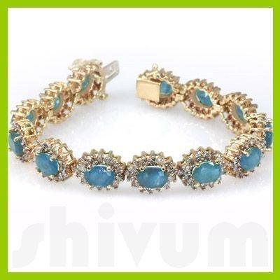 Genuine Vintage Design  21.22 ctw Aquamarine Bracelet