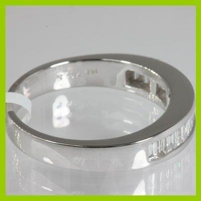 Genuine 0.59 ctw Diamond Baguette Engagement Ring 14kt