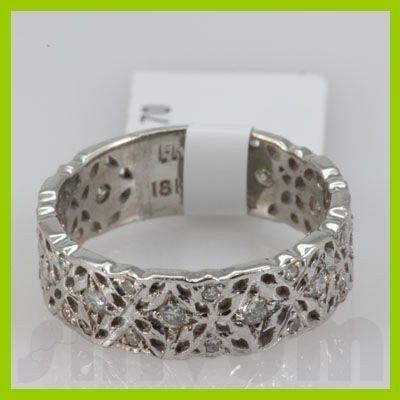 Genuine 0.55 ctw 18k Diamond White Gold Ring