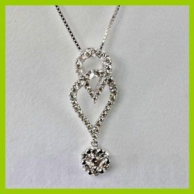 Genuine 0.650 ctw Peridot Diamond Pendant 18kt