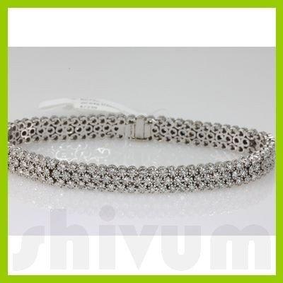 Genuine 4.5ctw Diamond Bracelet 14K White Gold