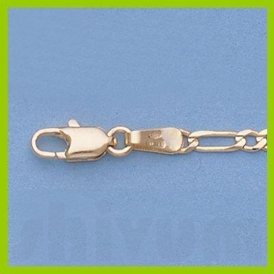 """Genuine 16"""" 14k  Gold-Yellow 2.3mm Figaro Chain 4.4g"""