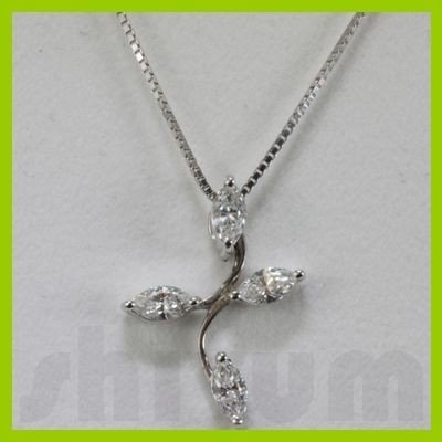 Genuine 0.45ctw Diamond Necklace 14k Gold 0.64g