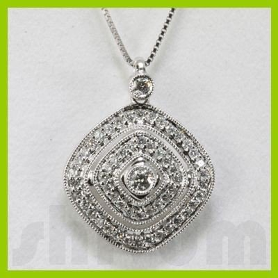 Genuine 0.5ctw Diamond Necklace 14K Gold 2.21g