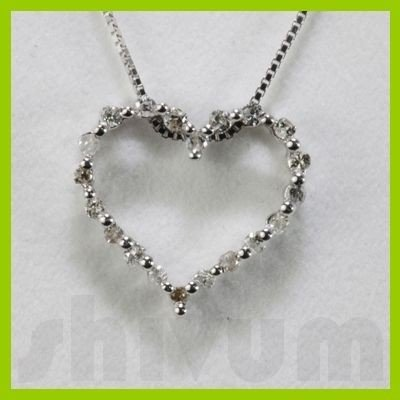Genuine 0.22ctw Diamond Necklace 14K Gold 0.92g