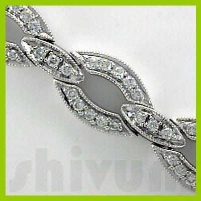 Genuine 2.62 ctw 14K Diamond Studded Fashion Bracelet