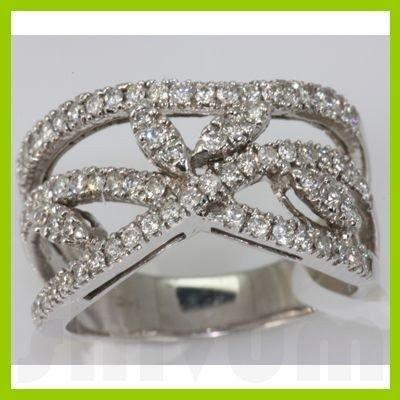 Genuine 0.65 ctw Diamond Ring 14K White Gold