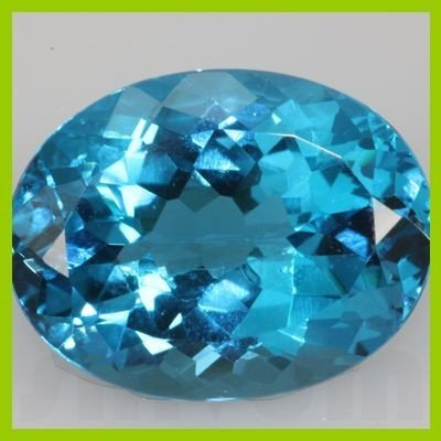 Natural Blue Topaz Oval Cut 1 pc per lot @2.5 USD/ct
