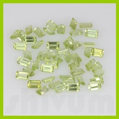 Natural Peridot Emerald Cut 4x6mm 61.5ctw @3.5USD/ct