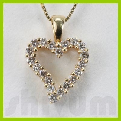 Genuine 0.5ctw Diamond Necklace 14K Gold 1.54g