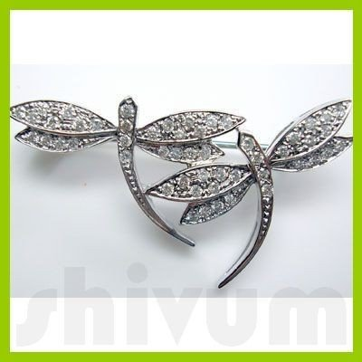 Genuine 0.5 ctw 14K Diamond Studded Fashion Brooch SI1