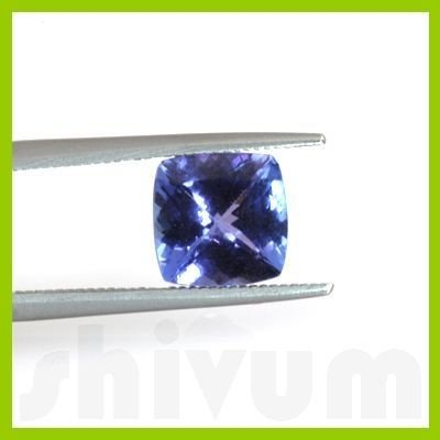 Genuine Natural 2.58 ctw Tanzanite Square Cut AAA 8x8mm