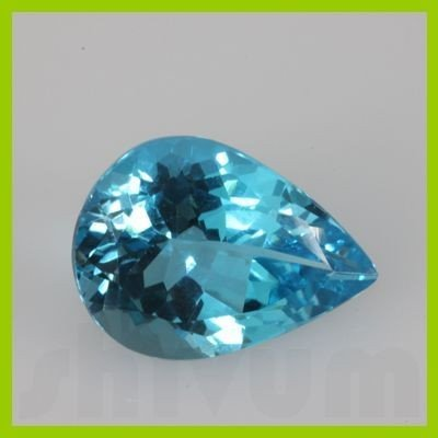 Natural Blue Topaz Pear Cut 5x10mm 21.79ctw @3 USD/ct