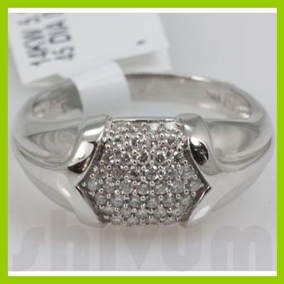 Genuine 0.36 ctw 14k Diamond White Gold Ring
