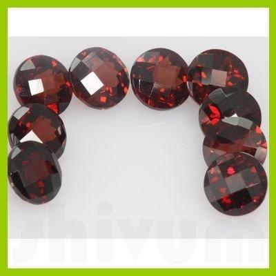 Natural Red Garnet Round Cut AAA 8x8mm 9 pcs/lot @$5/ct