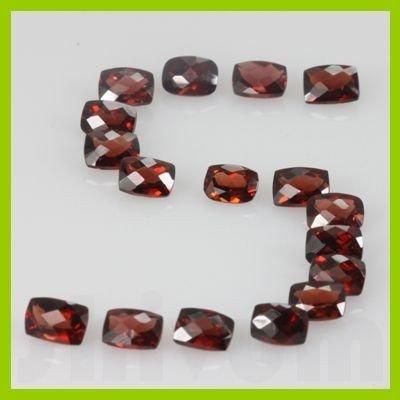 Natural Red Garnet Cushion Cut AAA 22 pcs/lot @$4/ct