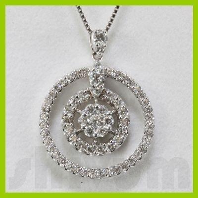 Genuine 0.72ctw Diamond Necklace 18k Gold 2.45g