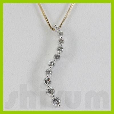 Genuine 0.48ctw Diamond Necklace 14k Gold 1.05g