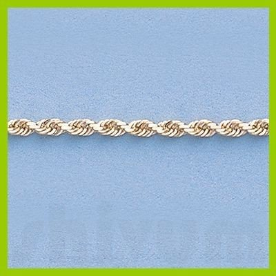 "Genuine 16"" 14k  Gold-Yellow 2.0mm D/C Rope Chain 5.0g - 2"