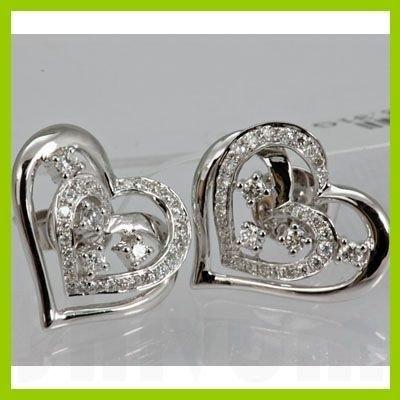 Genuine 0.280 ctw Diamond Earring 18kt Gold-White