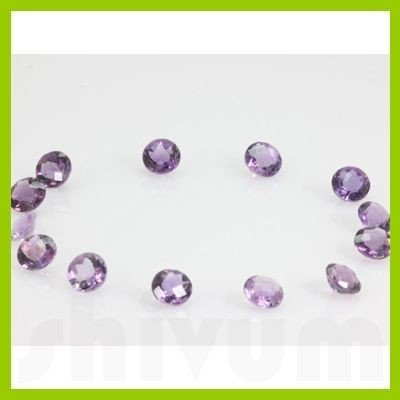 Natural Amethyst Round Checkered Cut 9x9mm @1.5 USD/ct