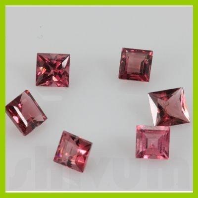 Natural Pink Tourmaline Princess Cut 44 pcs/lot @$40/ct