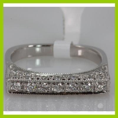 Genuine 0.75 ctw Diamond Ring 14K White Gold