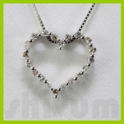 Genuine 0.22ctw Diamond Necklace 14K Gold 0.92g